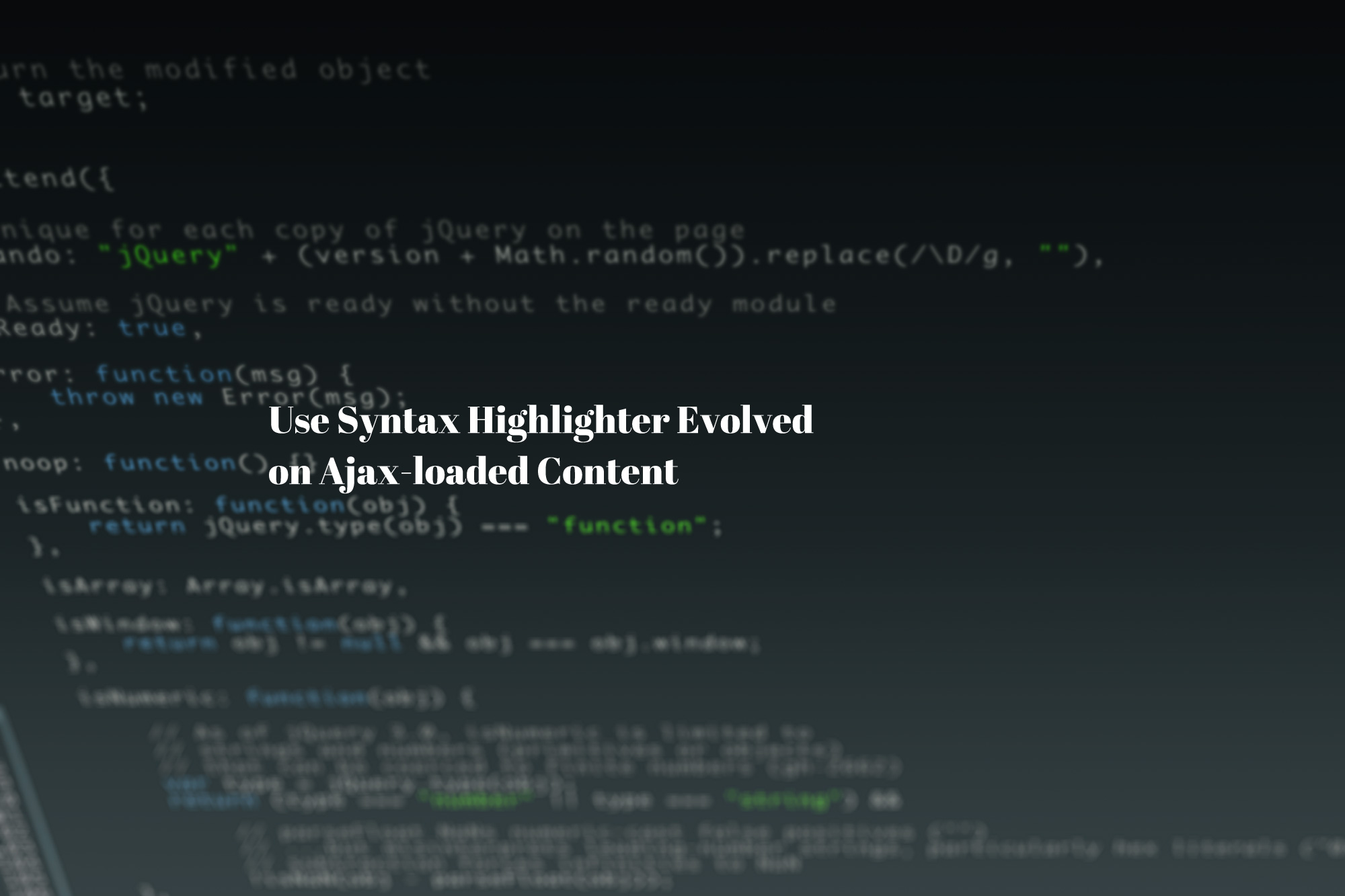 【WP】SyntaxHighlighter Evolved を Ajaxに対応させる方法